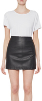 French Connection Filomena Faux Leather Mini Skirt, Black