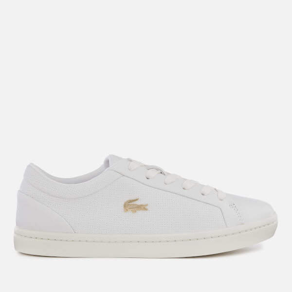 570fb177b Lacoste White Leather Trainers - ShopStyle UK