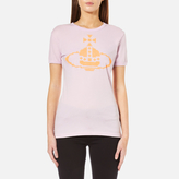 Vivienne Westwood Women's Embroidered Orb TShirt - Lilac