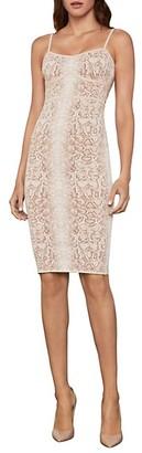 BCBGMAXAZRIA Snakeskin-Print Mini Dress