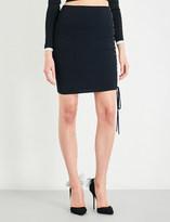 Alexandre Vauthier Lace-up stretch-knit mini skirt
