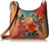 Anuschka Handpainted Leather 7006-BBR Large Hobo
