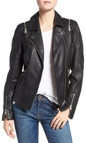 Andrew Marc Emmy Zip-Off Sleeve Leather Jacket