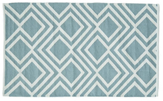 Camilla And Marc Weaver Green - Iris Teal Rug - Made from Recycled Plastic Bottles - 150 x 90 cm | recycled plastic | teal blue - Teal blue