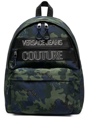 Versace Jeans Couture Logo Camouflage-Print Backpack
