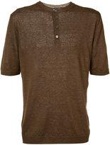 Eleventy buttoned neck T-shirt