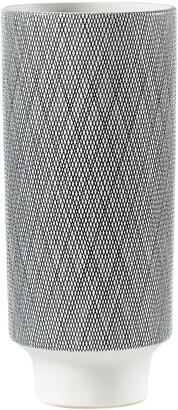 Torre & Tagus Bergen Weave White Ceramic Tapered Vase