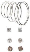Charlotte Russe Hoop & Stud Earrings Set