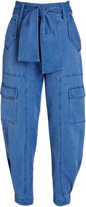 Derek Lam 10 Crosby Elian Tie-Waist Utility Pants