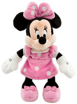 Disney Minnie Mouse Plush - Pink - Mini Bean Bag - 9 1/4''
