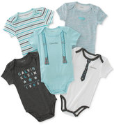 Calvin Klein 5-Pk. Tie & Suspenders Bodysuits, Baby Boys (0-24 months)