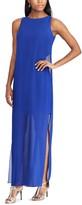 Chaps Women's Georgette Overlay Full-Length Dress