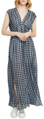 Oxford Aria Georgette Maxi Dress Blue