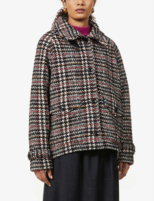 Sessun Lee Valley woven-pattern knitted coat