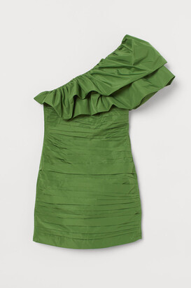 H&M Draped one-shoulder dress