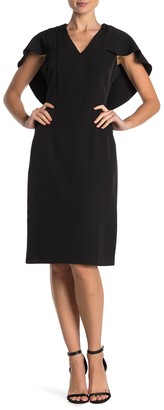 Nanette Lepore Nanette Cape Overlay Sleeve Shift Dress