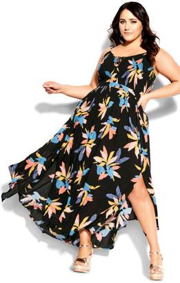 City Chic Grenada Maxi Dress - black
