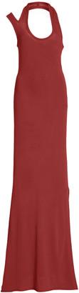 Proenza Schouler Side Slit Halter Crepe Jersey Dress