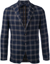 Tagliatore check blazer - men - Linen/Flax/Cupro/Virgin Wool - 46