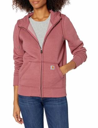 Carhartt Women's Clarksburg Full Zip Hoodie (Regular and Plus Sizes) Heather X-Small