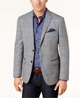 Tallia Men's Big & Tall Slim-Fit Black/White Houndstooth Plaid Sport Coat