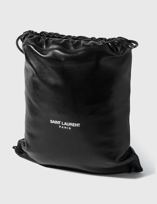 Saint Laurent Teddy Leather Backpack