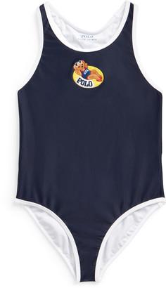 Ralph Lauren Swim Bear One-Piece Swimsuit