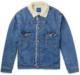 Beams Japan Faux Shearling-lined Denim Jacket