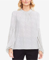 Vince Camuto Elegant Speckles Balloon-Sleeve Top