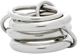 Spinelli Kilcollin Silver Aquarius Petite Four-Link Ring