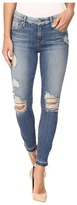 7 For All Mankind The Ankle Skinny w/ Released Hem & Destroy in Windsor Pink Tint