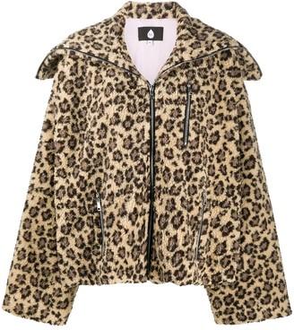 Natasha Zinko Oversized Leopard Print Jacket