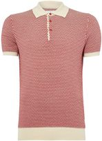 Peter Werth Men's Carlyle Geometric Leaf Knit Cotton Polo