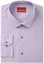 Alfani Men's Fitted Performance Grape White Textured Mini-Stripe Dress Shirt, Only at Macy's