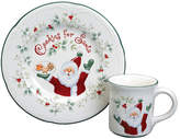 Pfaltzgraff Winterberry Cookies And Milk for Santa 2 Piece Place Setting, Service for 1