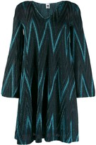 M Missoni zig-zag pattern short dress