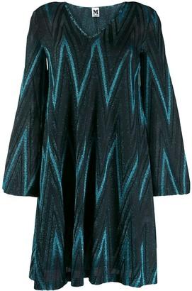 M Missoni Zig-Zag Pattern Short Dress