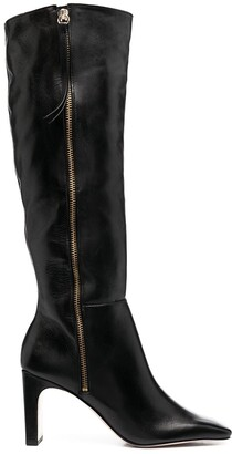 Schutz Square-Toe Leather Boots
