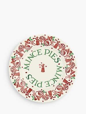 Emma Bridgewater Joy Trumpets Mince Pies Plate, 22cm, White/Red