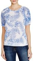 Sundry Leaf Print Sweatshirt