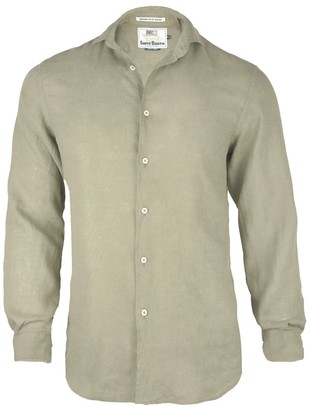 MC2 Saint Barth Beige Linen Shirts Mens Pamplona