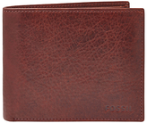 Fossil Ingram Large Coin Pocket Leather Bifold Wallet, Wine