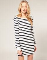 Stripe Bell Sleeve Dress