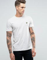 Lyle & Scott T-Shirt Eagle Logo In Ecru Marl