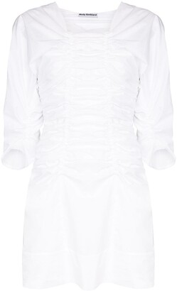 Molly Goddard Ruched Detail Mini Dress
