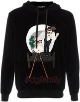 Dolce & Gabbana Designer's patch hoodie - men - Cotton - 50