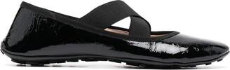 Car Shoe Crossover-Strap Ballerina Shoes