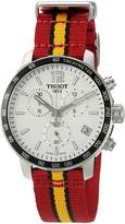 Tissot Men's 'Quickster' Swiss Quartz Stainless Steel and Nylon Automatic Watch, Multi Color (Model: T0954171703708)