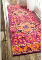 nuLoom Overdyed Persian Palace Wool Maroon Runner Rug (2'6 x 8')
