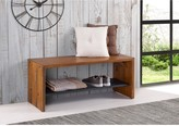 Walker Edison Furniture Company 42 Amber Solid Rustic Reclaimed Wood Entry Bench
